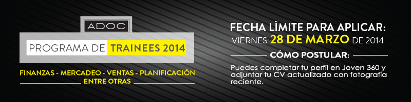 PROGRAMA DE TRAINEES 2014 ADOC
